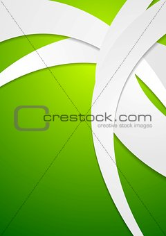 Bright green corporate wavy design
