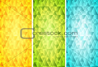 Bright mosaic tech vertical banners