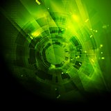 Shiny green engineering tech vector background