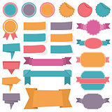 Labels Ribbons Banners