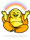 Happy Buddha Rainbow