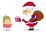 Santa Claus and girl