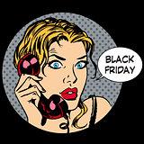 Black Friday woman phone communication