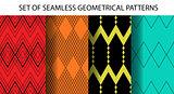 Set of 4 geometrical seamless patterns