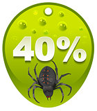 Halloween discount coupon 40 percent. Halloween spider label sale