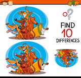 finding differences cartoon task