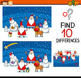 christmas differences game for kids