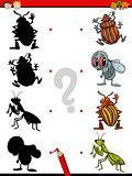 cartoon educational shadows task
