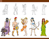 greek gods set illustration