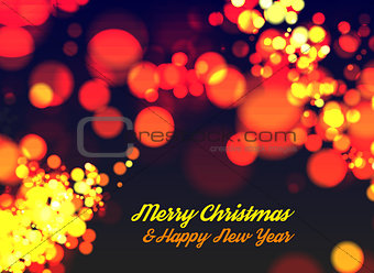 Christmas bokeh light.