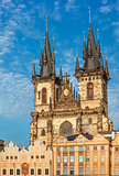 temple Our Lady before Tyn in Prague