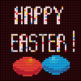pixel happy easter