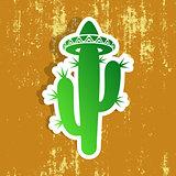 Desert cactus label
