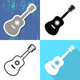 Various vector guitar cards