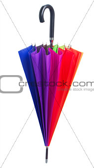 Closed Rainbow umbrella