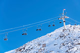 Alpine chairlift in Hintertux