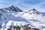 Ski lifts and slopes in Austrian Alps