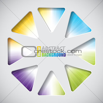 Abstract design with triangles and hexagon background
