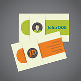 Business card with photo and monogram