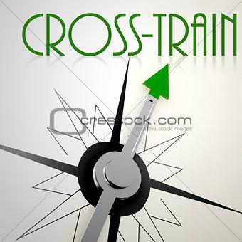 Cross train on green compass