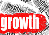 Word cloud growth business sucess concept