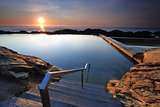 The steps into Blue Pool Bermagui
