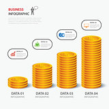 vector money business plan infographic flat design