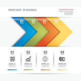 business infographic element data template flat design