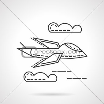 Aerial vehicle thin line vector icon
