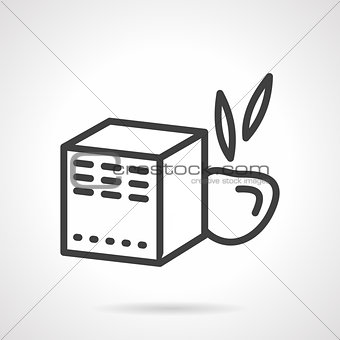 Baby food box black line vector icon