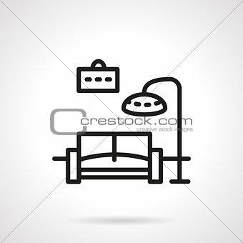 Black line living room vector icon