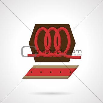 Candies production flat color vector icon