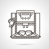 Espresso machine line style vector icon