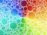 color bubbles background