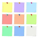 Nine sticky notes