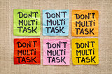 do not multitask - sticky note abstract