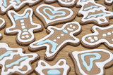 Close-up of gingerbread cookies