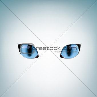 blue cat eyes