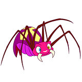 cute spider on halloween