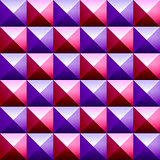 Colorful pyramids seamless vetor pattern