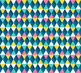 Argyle seamless pattern, four color options. Vector illustration.