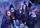 Coven of Witches at Altar