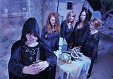 Wicca Priest and Coven in Ritual