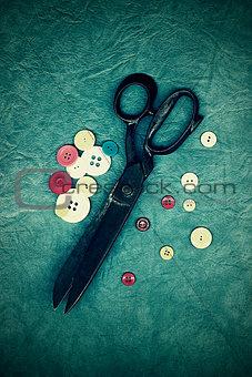Antique dressmaker's scissors