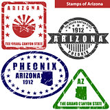 Stamps of Arizona, USA