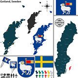 Map of Gotland, Sweden