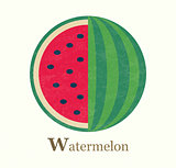 Watermelon raster illustration