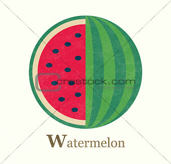 Watermelon raster illustration