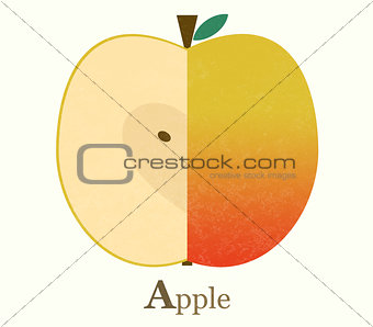 Apple raster illustration