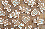 Beautiful gingerbread cookies